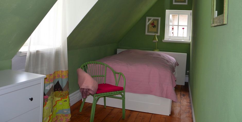 Schlafzimmer-Grün - Ferienwohnung Kühlungsborn