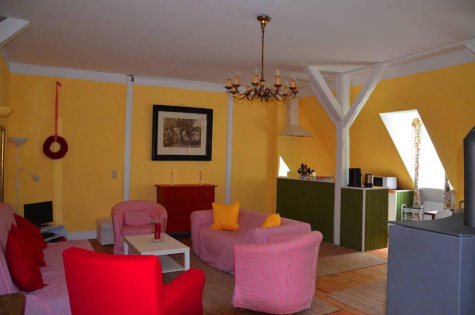 Familienfreundliche Ferienwohnung Wohnzimmer